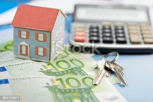 istock The concept of home ownership and Euro 624124672