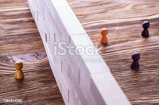 istock The concept of misunderstanding, a barrier in relations, denial of society. 1084644090