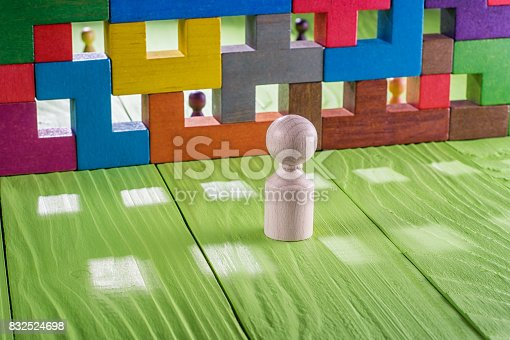 istock The concept of misunderstanding, a barrier in relations 832524698