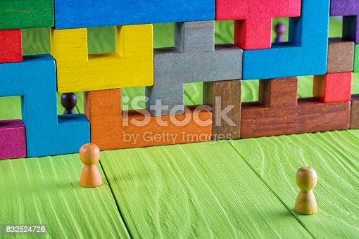 istock The concept of misunderstanding, a barrier in relations 832524726