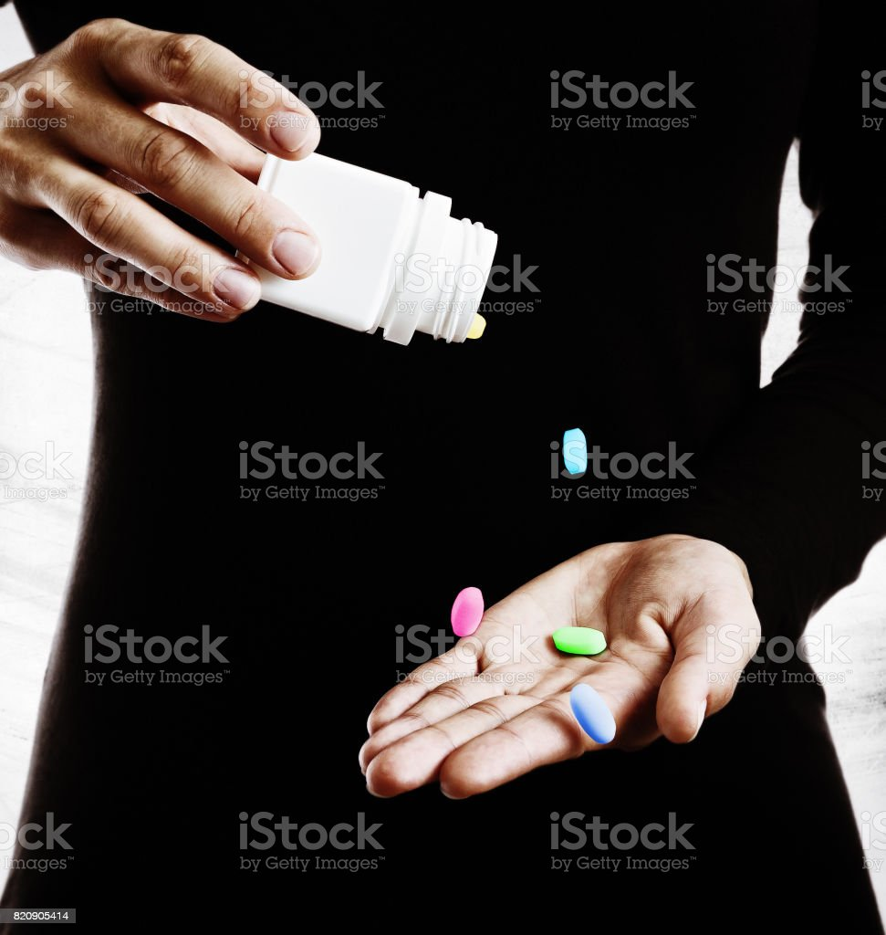 The concept of narcotic addiction. stock photo