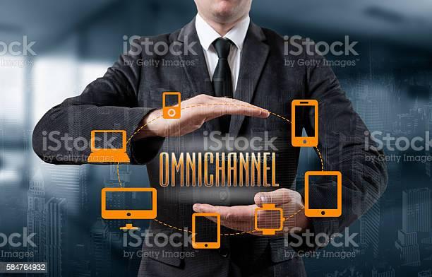 The Concept Of Omnichannel Between Devices Foto de stock y más banco de imágenes de Acontecimiento