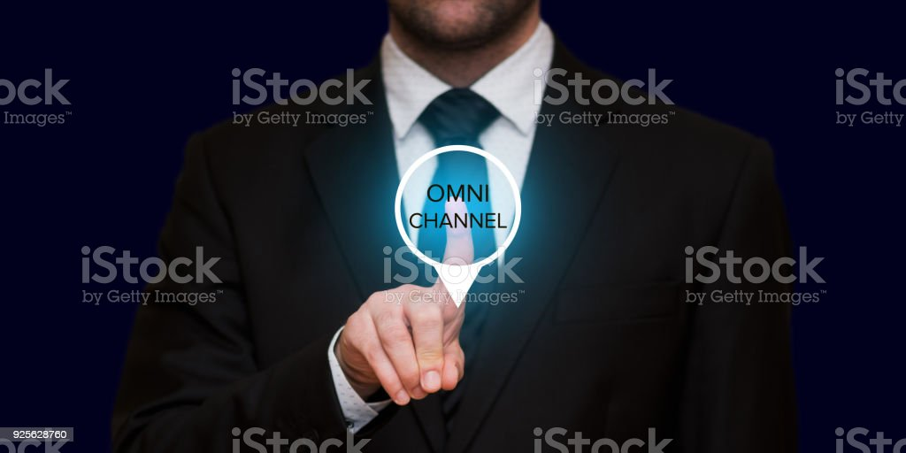 The concept of Omnichannel stock photo