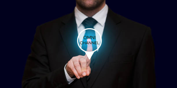 the concept of omnichannel - omnichannel marketing stock photos and pictures