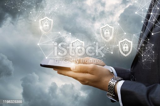 1156072209istockphoto The concept of protecting mobile devices . 1198325355