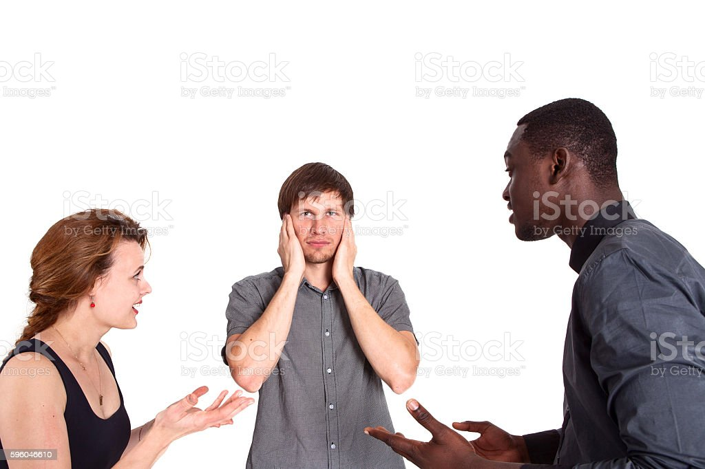The concept of social and racial conflict. Equality. Problems. royalty-free stock photo