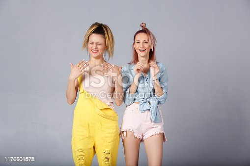 1092709104 istock photo The concept of stylish beautiful young girls 1176601578
