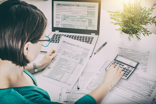 istock The concept of tax settlement. 912303164