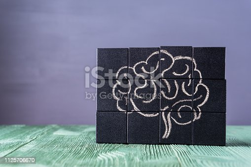 585087100istockphoto The concept of the human brain. Education, science and medical concept. 1125706670