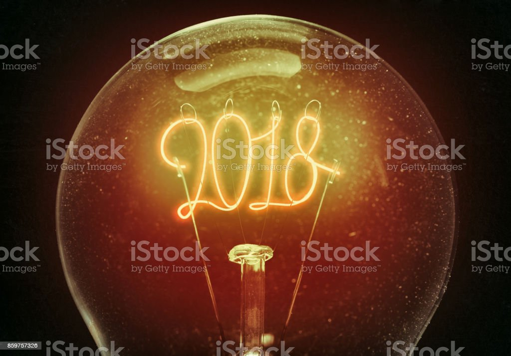 The concept of the new 2018. stock photo