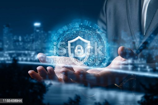 1156072209istockphoto The concept of the protection of the urban network . 1155458944