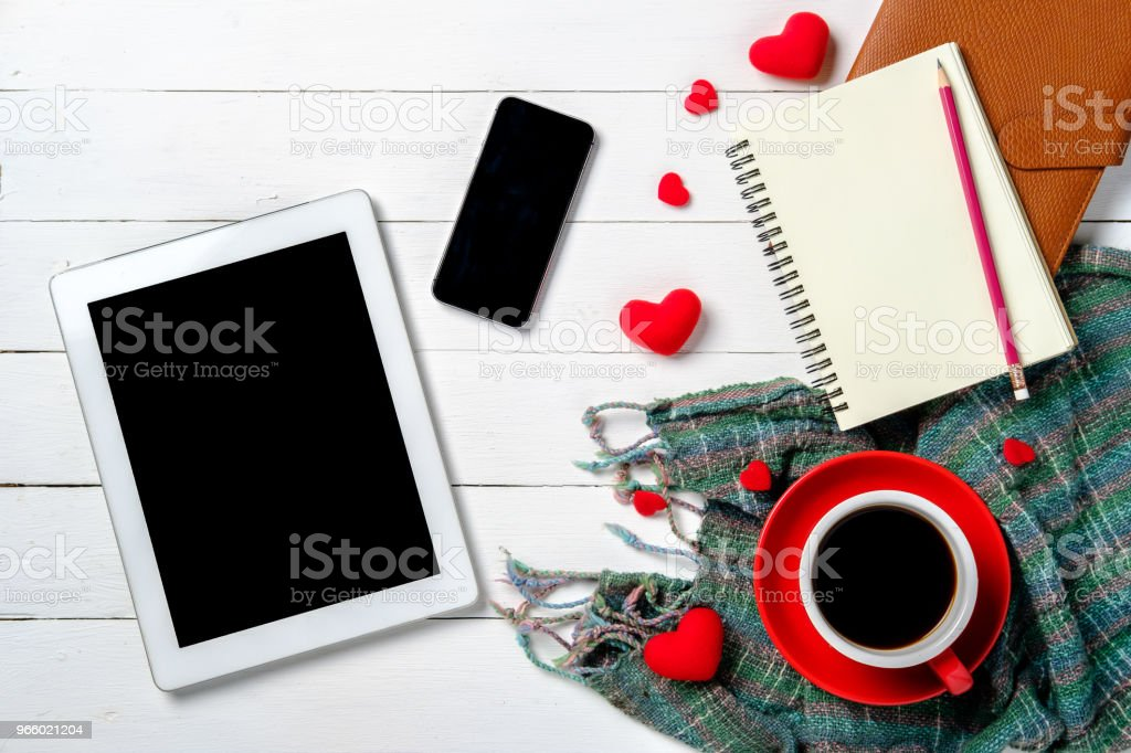 The concept of Valentine Day. - Royalty-free Above Stock Photo