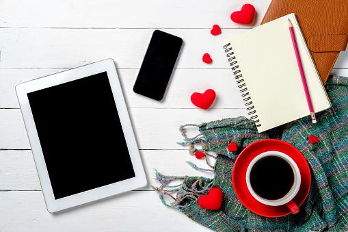 Het Concept Van De Dag Van De Valentijnskaart Stockfoto en meer beelden van Begroeten