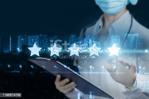 istock The concept rating of medical care. 1165574703