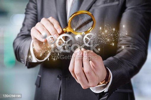 1197953545istockphoto The concept study of the mechanism of business management. 1204256195