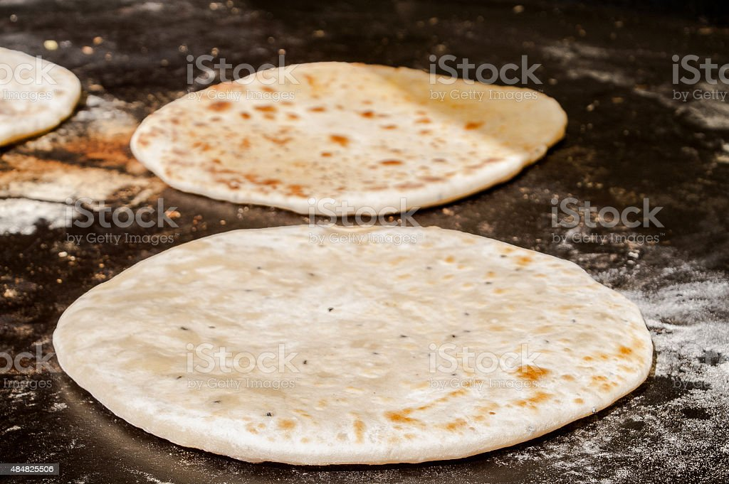 The concerned grain flat cakes stock photo