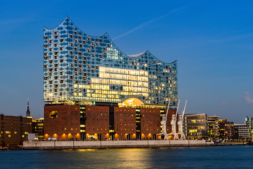 The Concert hall Elbphilharmonie in Hamburg