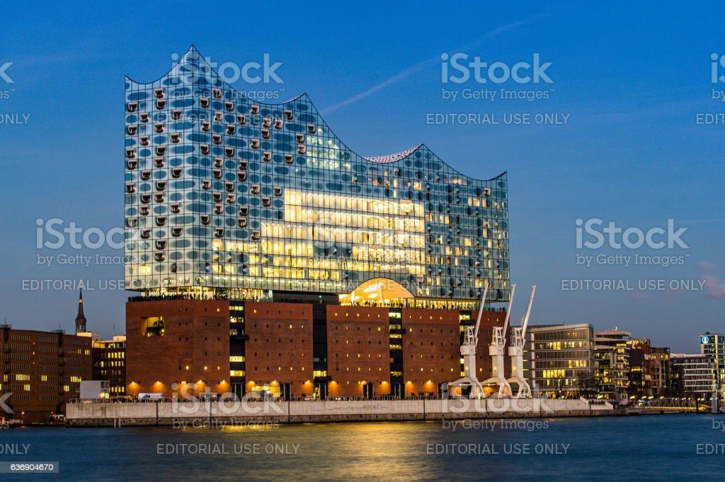 The Concert hall Elbphilharmonie in Hamburg stock photo