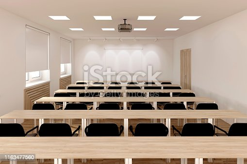 istock The conference hall. 1163477560