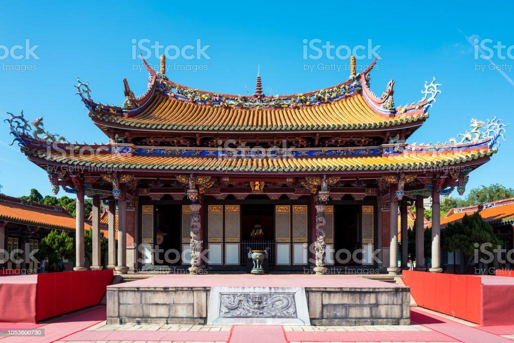 The Confucius temple in Taipei, Taiwan. stock photo