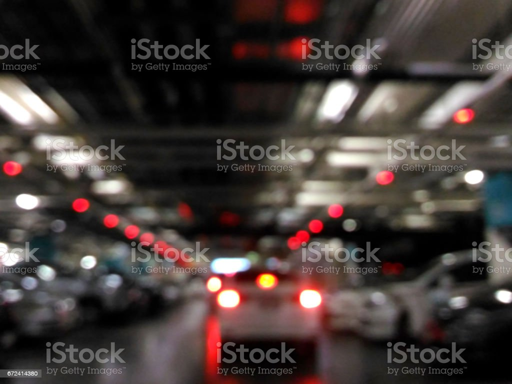 The Congestion in car park stock photo