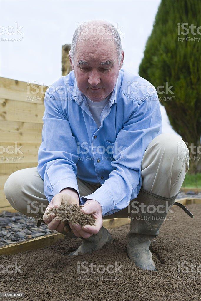 The Conscientous Gardener royalty-free stock photo