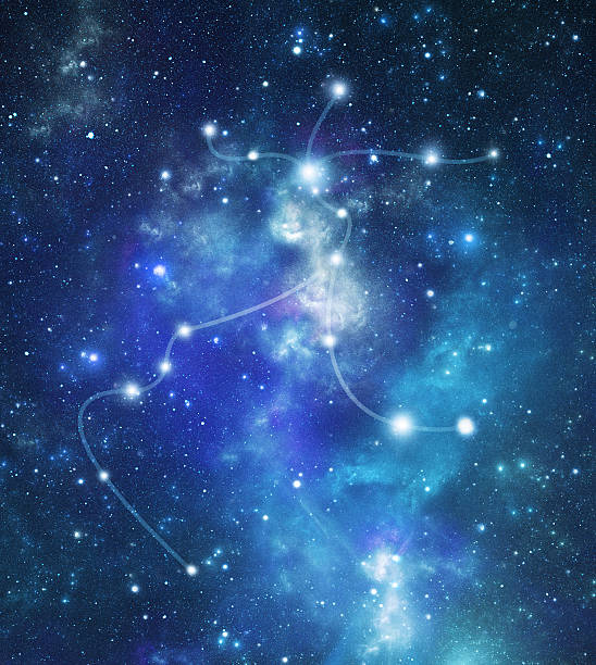 the constellation, centaurus in the milky way - centaurus bildbanksfoton och bilder