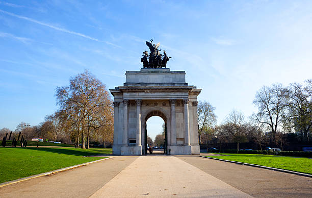 The Constitution Arch on London's Hyde Park stock photo
