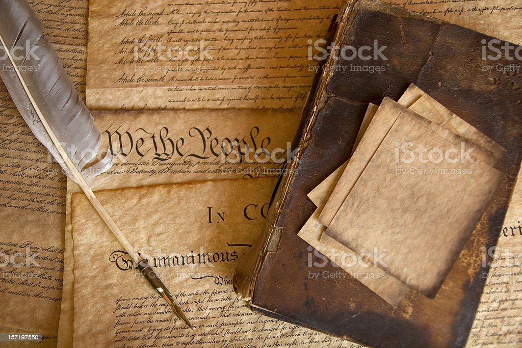 The Constitution royalty-free stock photo