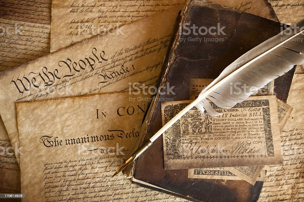 The Constitution stock photo
