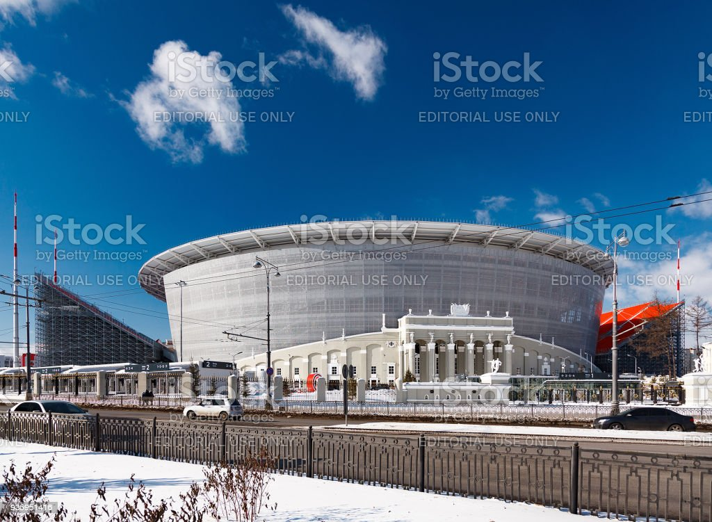 The construction of the new stadium for the 2018 world championship football (soccer). stock photo