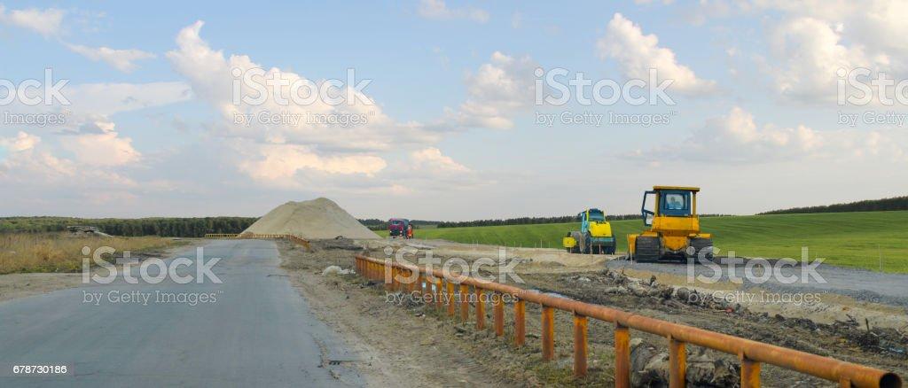 La construction de la route. photo libre de droits
