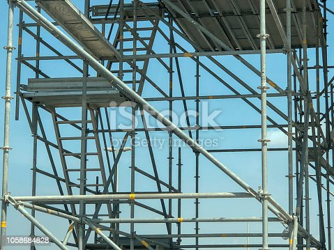 Construction, Industry, Square Format - Structural Framework for the Construction Work is been Setup