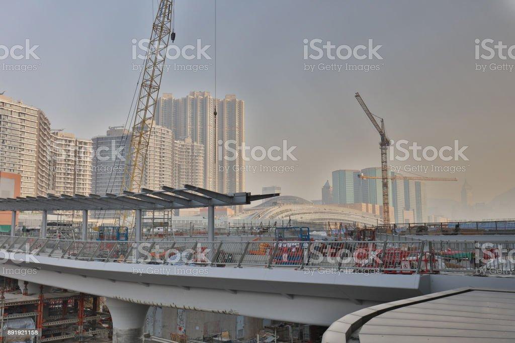 香港快線鐵路的建築工程圖像檔