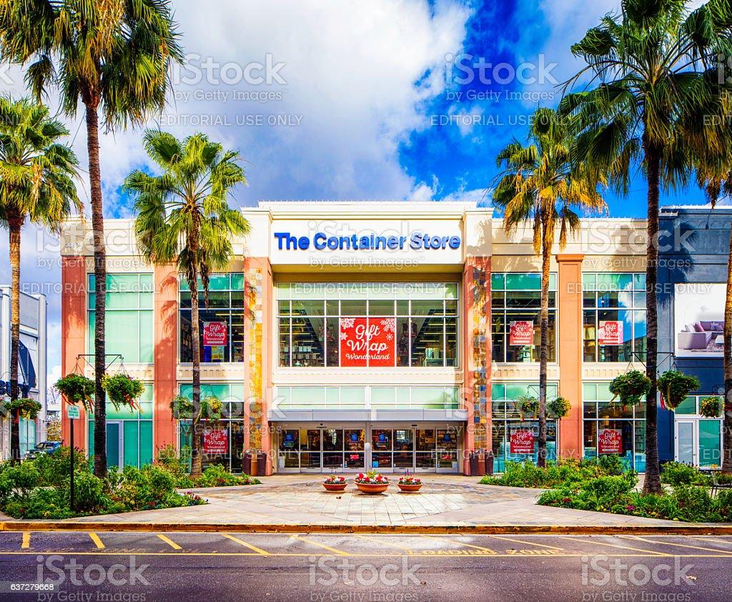 Santana Row Stores >> The Container Store Facade On Santana Row San Jose Stock Photo