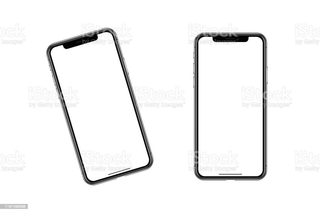ファッショナブルなスマートフォンの輪郭モデル。 - つながりのロイヤリティフリーストックフォト