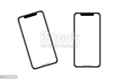 istock The contour model of a fashionable smartphone. 1197490588