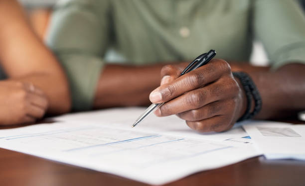 The contract that will keep them secured stock photo
