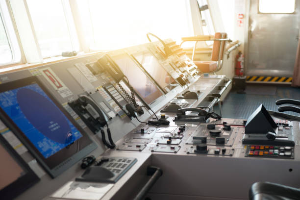 The control room of ship's bridge.