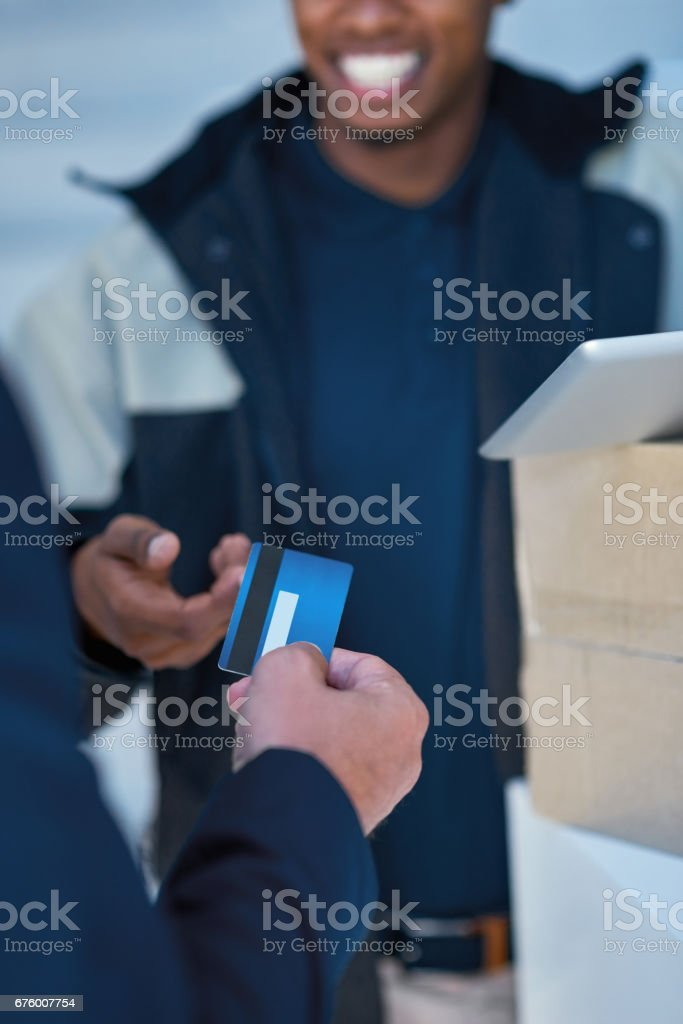 The convenience of credit stock photo
