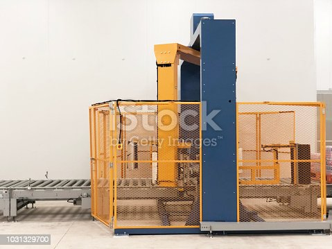istock The conveyor chain, and conveyor belt is on production line in clean room. 1031329700