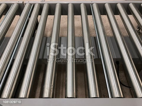 istock The conveyor chain, and conveyor belt is on production line in clean room. 1031329710