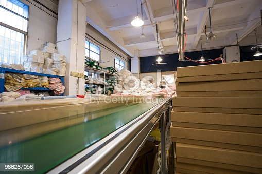 istock The conveyor chain, and conveyor belt is on production line in clean room. 968267056
