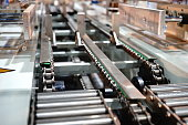 Production Line, Factory, Warehouse, Distribution Warehouse, Conveyor Belt