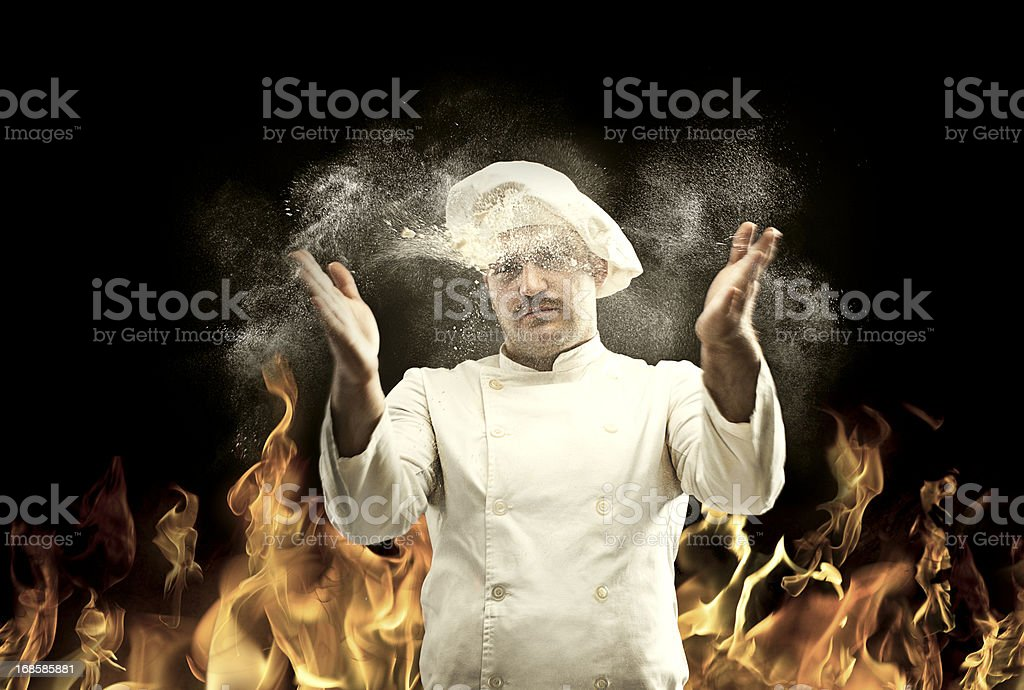The Cook royalty-free stock photo