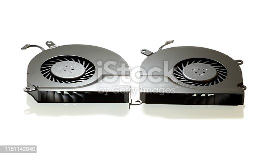 istock The cooling fan system elements, laptop computer coolers, close-up, white background 1151142040