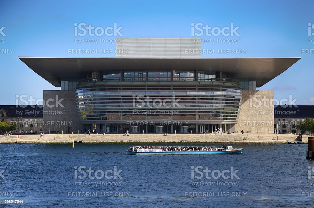 The Copenhagen Opera House in Copenhagen, Denmark photo libre de droits