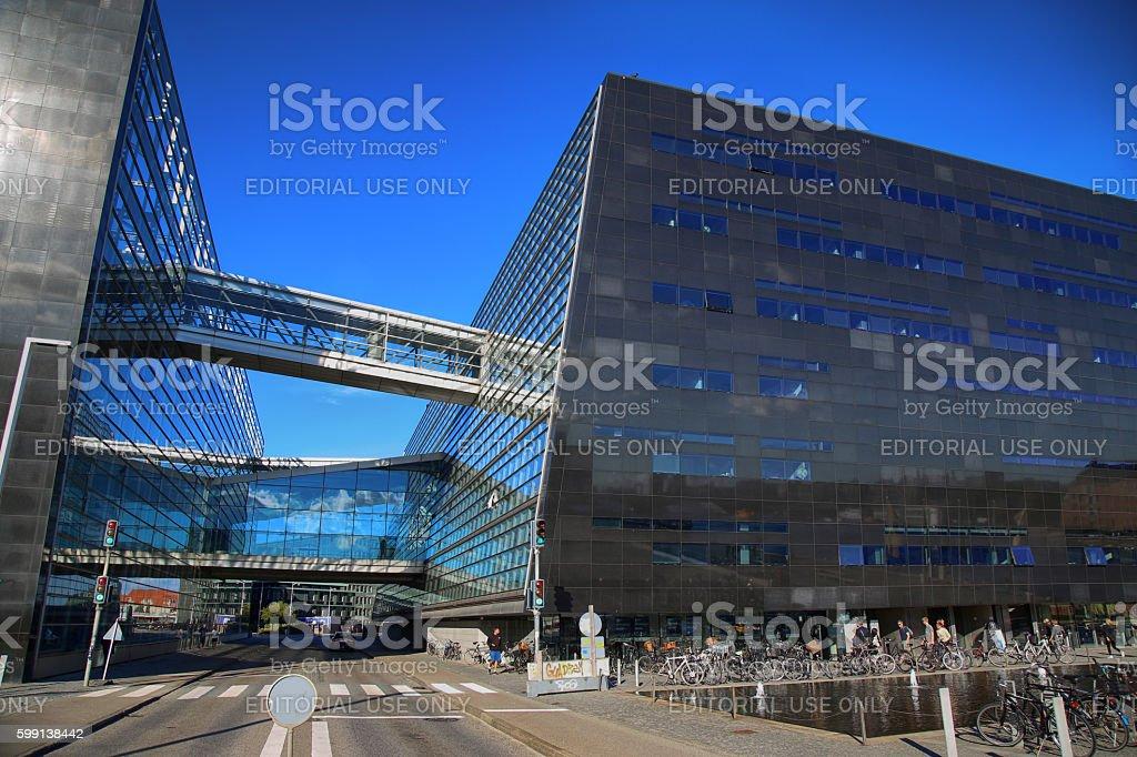 The Copenhagen Royal Library in Copenhagen, Denmark stock photo