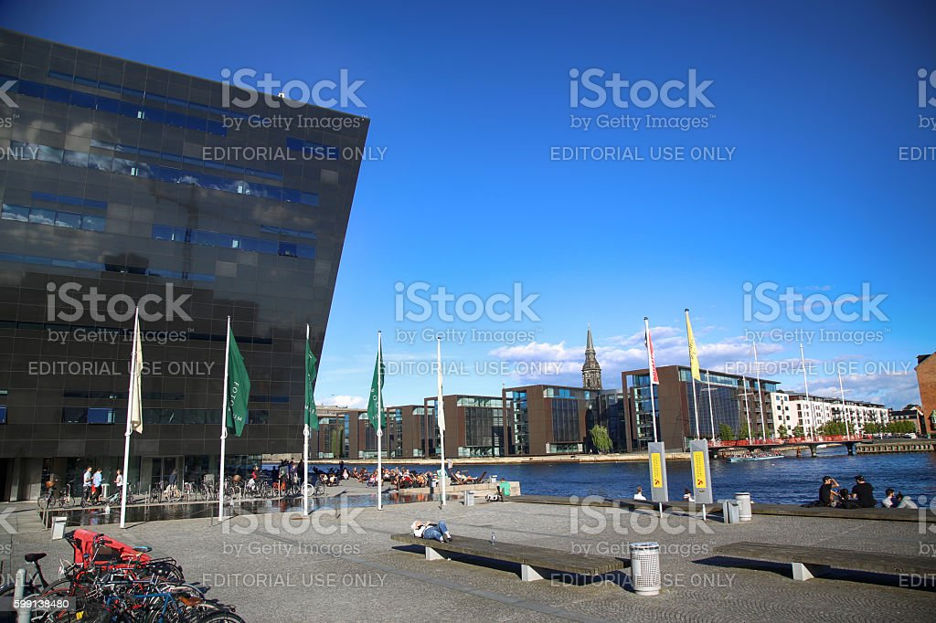 The Copenhagen Royal Library in Copenhagen, Denmark stock photo