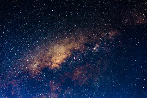 The core of the Milky Way stock photo
